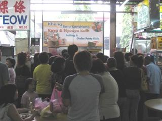 Kuih stall nearby seems popular