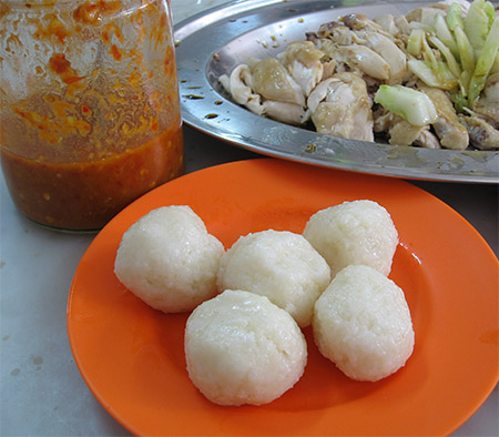 Chicken Rice Ball Set