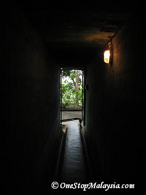 Looking out from a tunnel