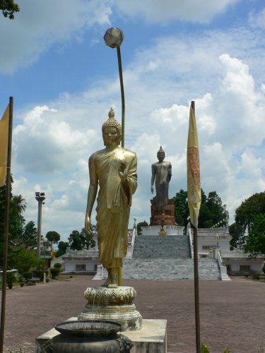 Standing Buddha Statue at Wat Pikulthong